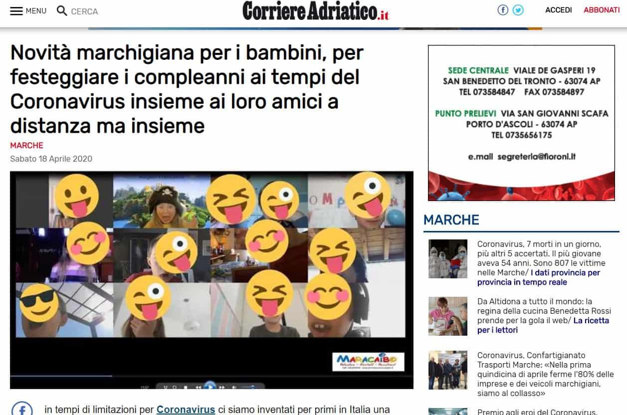 Articolo-di-giornale-compleanni-online-Maracaibo-feste-durante-quarantena-bambini-adolescenti-rit-2