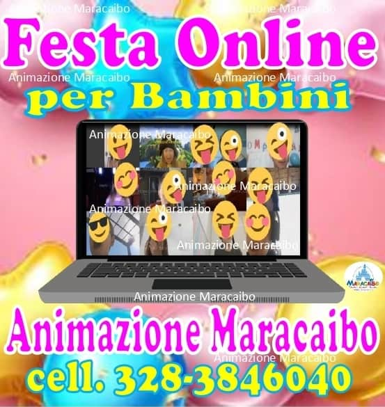 Compleanni feste online per bambini a distanza da casa per adulti ragazzi virus lockdown quarantena