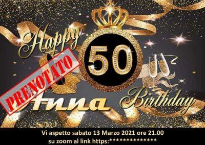Compleanno online 40 anni 50 anni 60 anni 70 festa online virtuale compleanni on line cinquanta quaranta