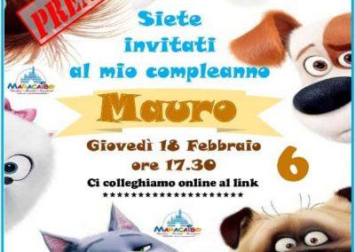 Compleanno online Mauro Invito-Standard-BAMBINO-Animali-cagnolino online