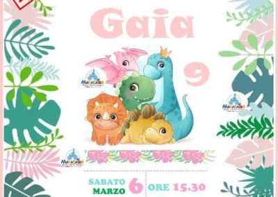 Compleanno online feste online compleanni virtuali Maracaibo bambini dinosauri on line